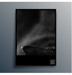 Halftone pattern design for flyer poster vector