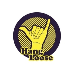Hang loose hand sign vector image