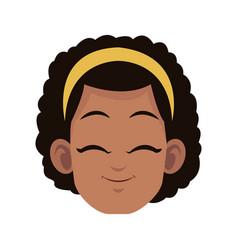 happy girl icon vector image