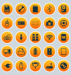 Hardware icons set collection of power generator vector