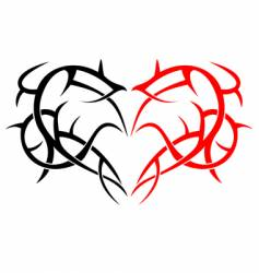 Heart tattoo vector