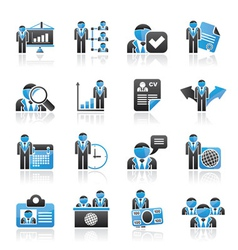 Human resource and employment icons vector image vector image