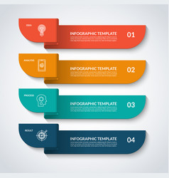 infographic banner with 4 options vector image