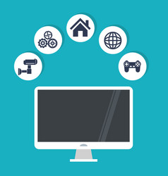 internet things computer security world game work vector image