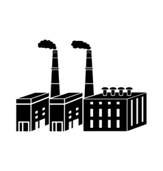 Large chemical plant icon simple style vector