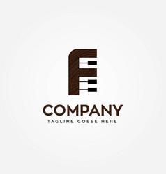 letter f music piano logo template icon vector image
