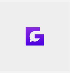 Letter g chat logo template design vector