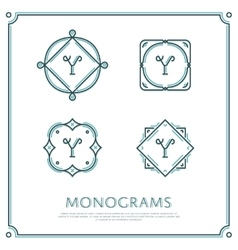 Letter Y Monogram vector image