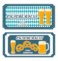 Logo for bar banner oktoberfest vector