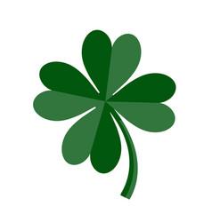 Lucky green four leaf clover for st patricks day vector