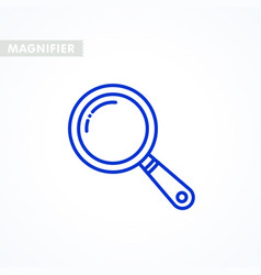 magnifier icon outline styled magnifying glass vector image
