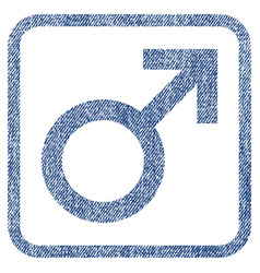 male symbol fabric textured icon vector image