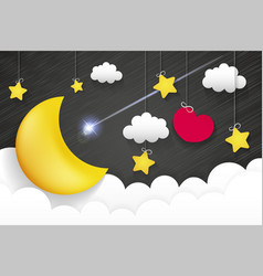 Night time sky vector