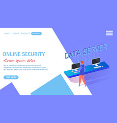 online security horizontal banner with copy space vector image
