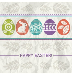 Paper background with colour easter eggs vector