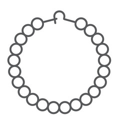 pearls bracelet thin line icon jewelry and vector image