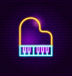 piano neon sign vector image