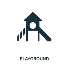playground icon monochrome style design from city vector image