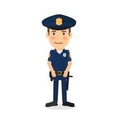 Policeman cartoon character vector image