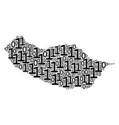 Portugal madeira island map mosaic of binary vector