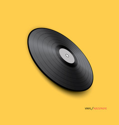 poster of vinyl player record music label logo vector image