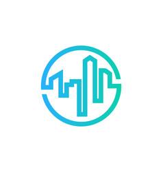 real estate logo icon design vector image