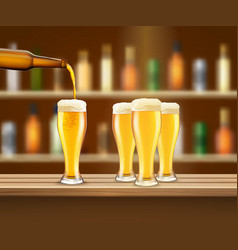 realistic beer vector image