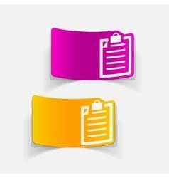 realistic design element clipboard vector image