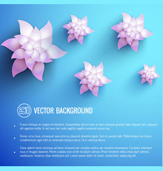 realistic floral light poster vector image