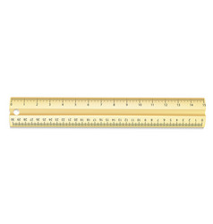 realistic line ruler 3d scale tool vector image