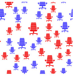 red blue silhouette seamless pattern vector image