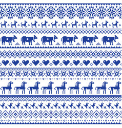Retro cross-stitch seamless pattern vector