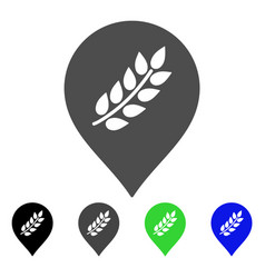 Rice plantation marker flat icon vector