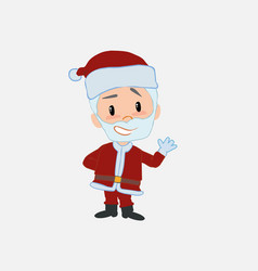 Santa claus showing something in positive attitude vector