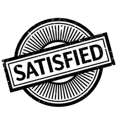 Satisfied rubber stamp vector