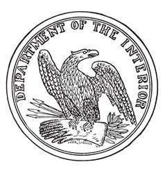 seal department interior the vector image