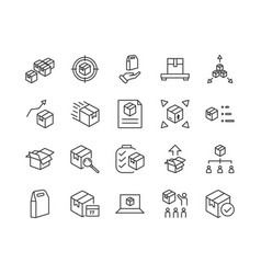 simple set abstract product related line icons vector image