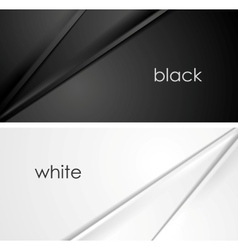 Smooth silk lines black and white backgrounds vector