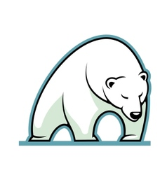 Stylized of a sleepy white polar bear vector
