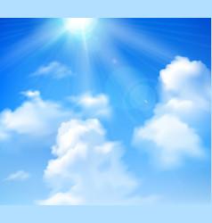 sun shining in sky vector image