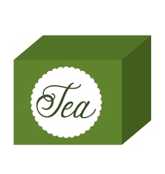Tea box isolated icon design vector