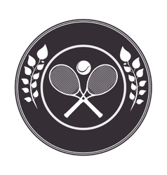 tennis sport emblem icon vector image