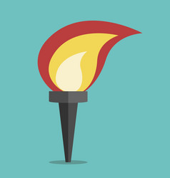 Torch with flame vector