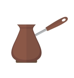 Turk for coffee icon flat style Isolated vector