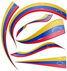 Venezuela flag set vector