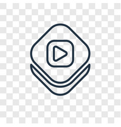 video player concept linear icon isolated on vector image