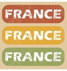 Vintage France stamp set vector
