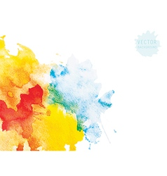 watercolor background vector image vector image