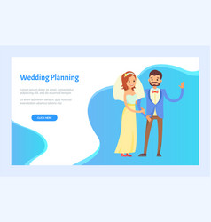 wedding planning arrangement event on each step vector image