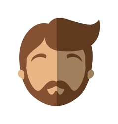 character face man bearded hairstyle shadow vector image